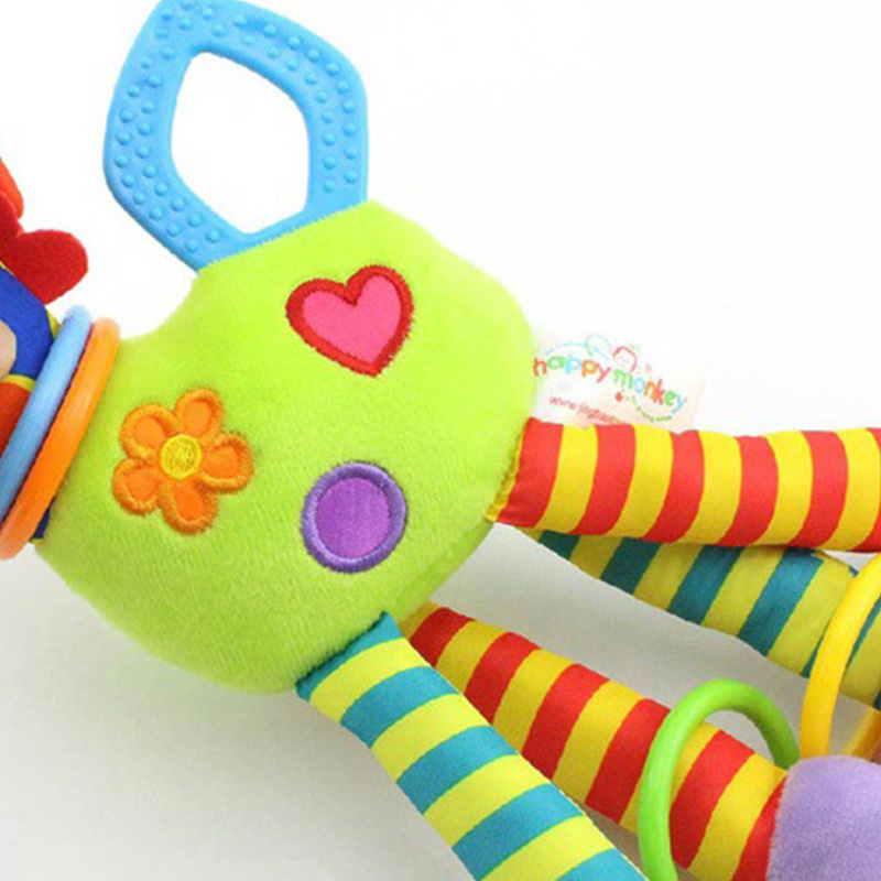 HAPPY-MONKEY-NinOs-Handbells-Sonajeros-Juguetes-Bebe-Juguetes-Blandos-Desar-O2L2 miniatura 5