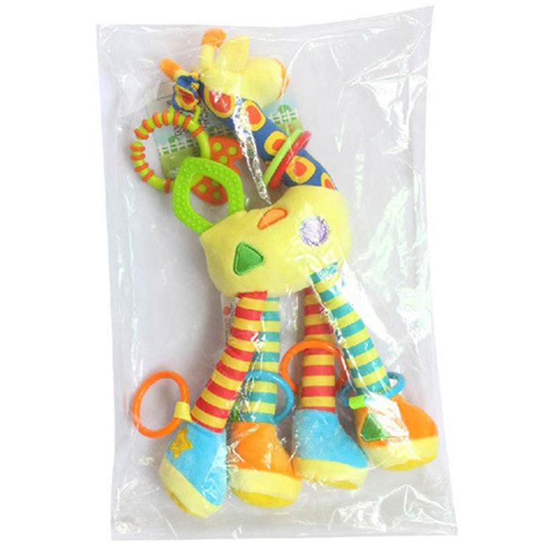 HAPPY-MONKEY-NinOs-Handbells-Sonajeros-Juguetes-Bebe-Juguetes-Blandos-Desar-O2L2 miniatura 6