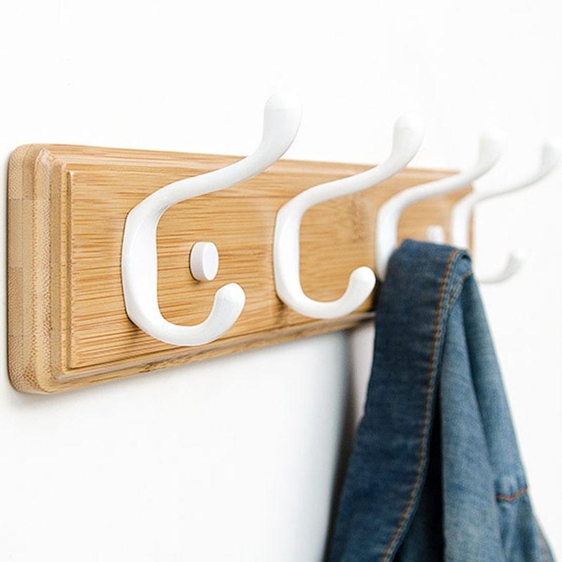 1X-Wood-Coat-Hook-Natural-Wall-Hanger-Hook-Hat-Clothes-Bag-Rack-Storage-SheY6G3 thumbnail 19