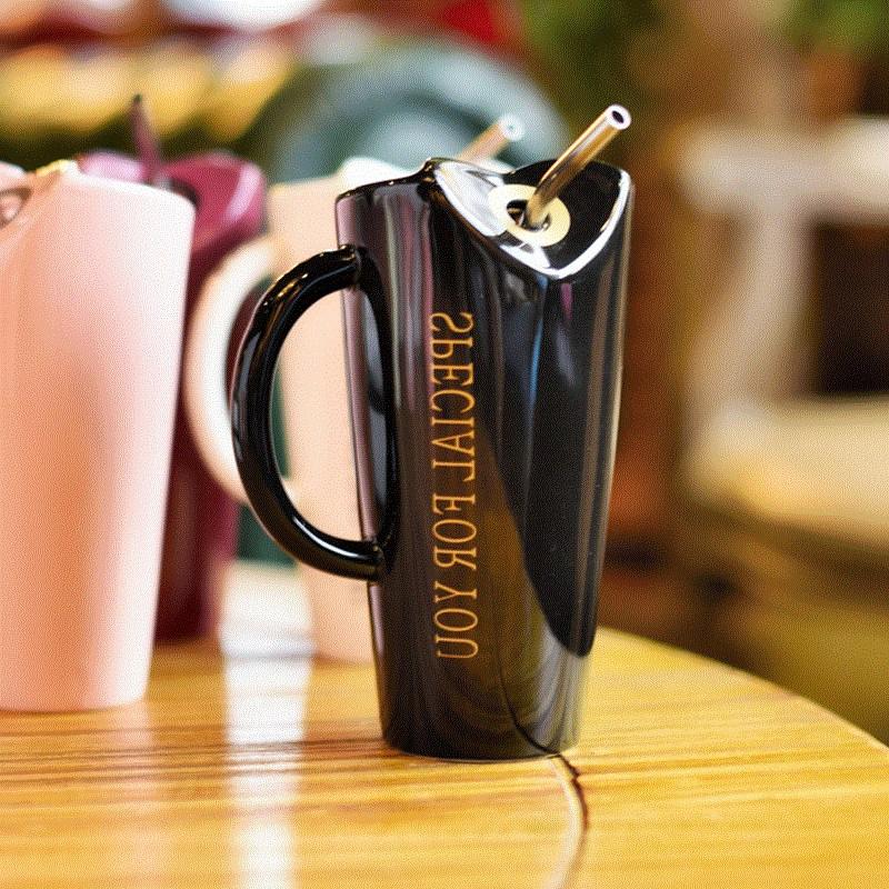 Novelty-Ceramic-Cup-with-Straw-Personality-Kitchen-Coffee-Mug-Creative-Tea-M1U3 thumbnail 21