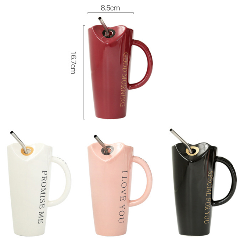 Novelty-Ceramic-Cup-with-Straw-Personality-Kitchen-Coffee-Mug-Creative-Tea-M1U3 thumbnail 25