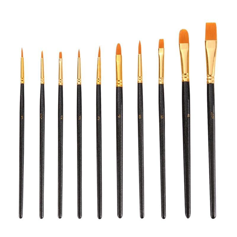50-Pcs-Pinceaux-Brosses-en-Nylon-pour-Acrylique-Huile-Aquarelle-Peinture-Ar-X9C9 miniature 7