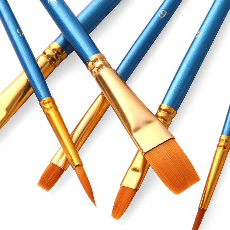 50-Pcs-Pinceaux-Brosses-en-Nylon-pour-Acrylique-Huile-Aquarelle-Peinture-Ar-X9C9 miniature 15