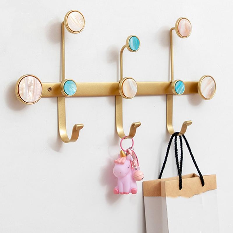 1X-Creative-Wrought-Iron-Rack-Coat-Hook-Wall-Storage-Shelf-Multi-Purpose-HoF8D2 thumbnail 4