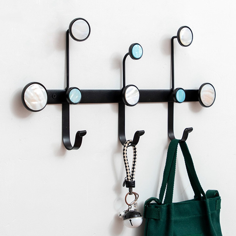 1X-Creative-Wrought-Iron-Rack-Coat-Hook-Wall-Storage-Shelf-Multi-Purpose-HoF8D2 thumbnail 11