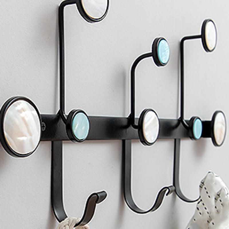 1X-Creative-Wrought-Iron-Rack-Coat-Hook-Wall-Storage-Shelf-Multi-Purpose-HoF8D2 thumbnail 12