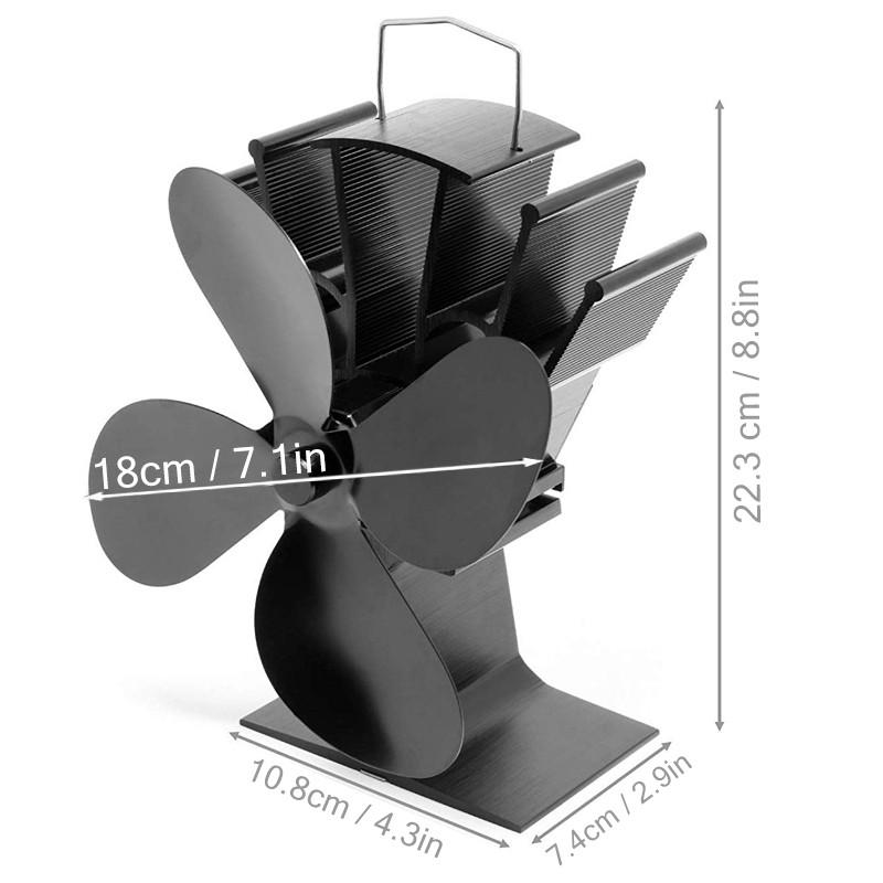 Schwarzer-Kamin-4-FlueGeliger-WaeRmebetriebener-OfenlueFter-Holzbrenner-Umwel-G1V8 Indexbild 3