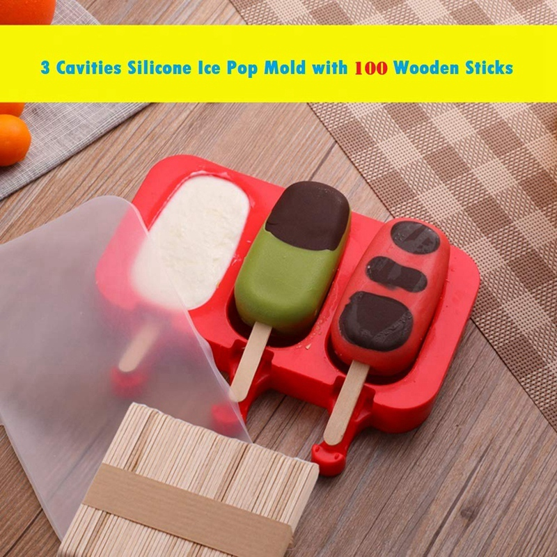 6 FLEXIBLE push up silicone ICE LOLLY moules avec couvercles faits maison Ice Lollies