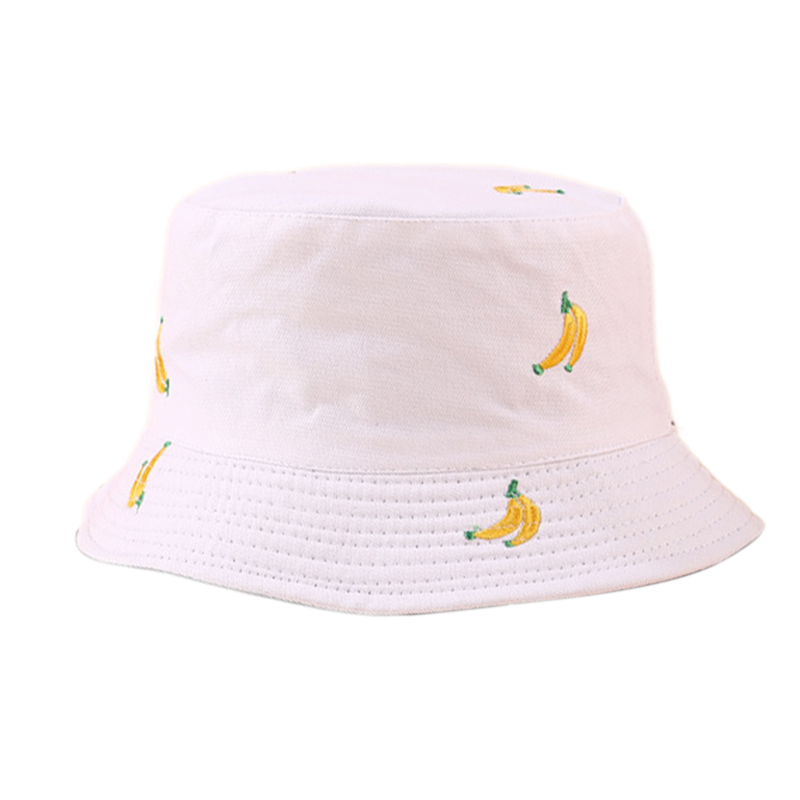1X-Sombrero-de-PlaTano-de-Doble-Cara-Sombrero-de-Pescador-Femenino-Sombrero-X5U9 miniatura 3