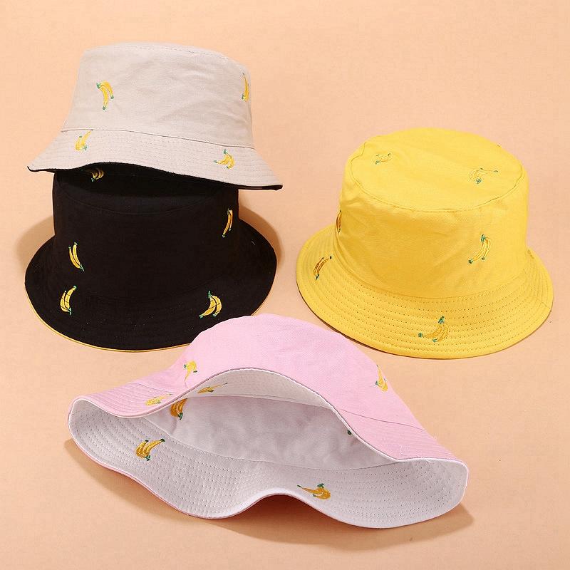 1X-Sombrero-de-PlaTano-de-Doble-Cara-Sombrero-de-Pescador-Femenino-Sombrero-X5U9 miniatura 5