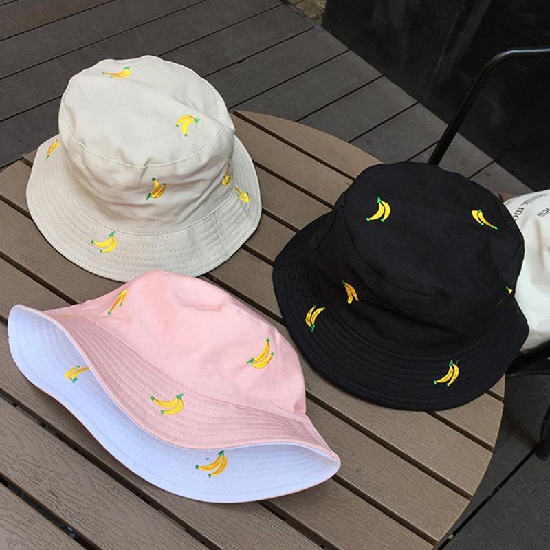 1X-Sombrero-de-PlaTano-de-Doble-Cara-Sombrero-de-Pescador-Femenino-Sombrero-X5U9 miniatura 7
