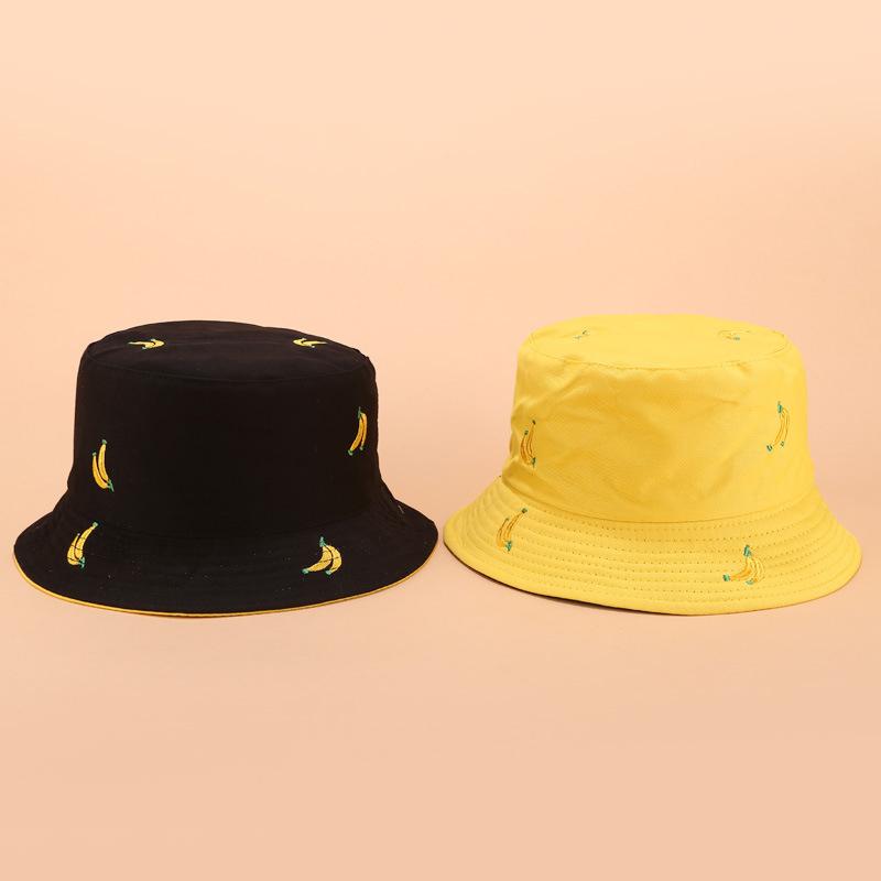 1X-Sombrero-de-PlaTano-de-Doble-Cara-Sombrero-de-Pescador-Femenino-Sombrero-X5U9 miniatura 11