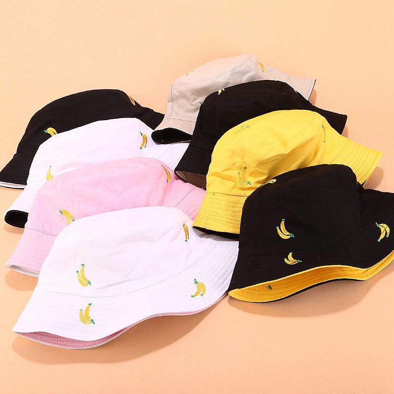 1X-Sombrero-de-PlaTano-de-Doble-Cara-Sombrero-de-Pescador-Femenino-Sombrero-X5U9 miniatura 15