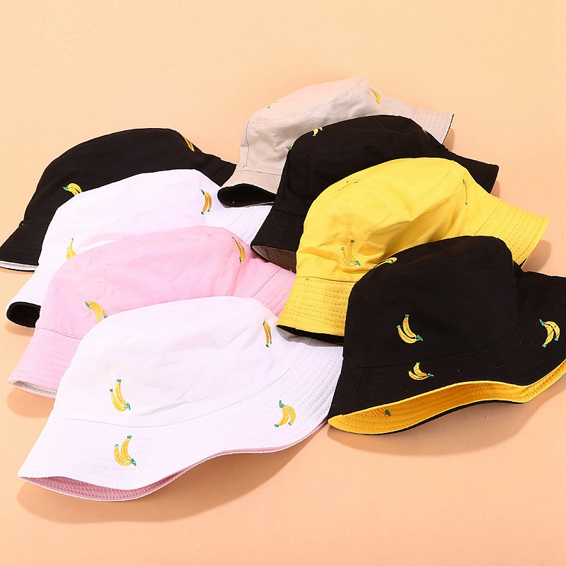 1X-Sombrero-de-PlaTano-de-Doble-Cara-Sombrero-de-Pescador-Femenino-Sombrero-X5U9 miniatura 22