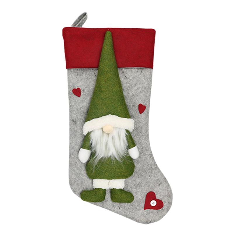 Weihnachtsstrumpf-Santa-Claus-Candy-Gift-Bag-Weihnachtsbaum-HaeNge-Dekor-F2V7 Indexbild 3