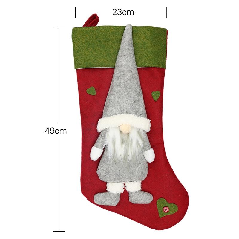 Weihnachtsstrumpf-Santa-Claus-Candy-Gift-Bag-Weihnachtsbaum-HaeNge-Dekor-F2V7 Indexbild 6