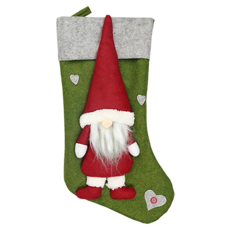 Weihnachtsstrumpf-Santa-Claus-Candy-Gift-Bag-Weihnachtsbaum-HaeNge-Dekor-F2V7 Indexbild 9