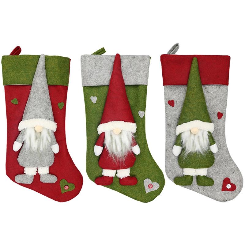 Weihnachtsstrumpf-Santa-Claus-Candy-Gift-Bag-Weihnachtsbaum-HaeNge-Dekor-F2V7 Indexbild 13
