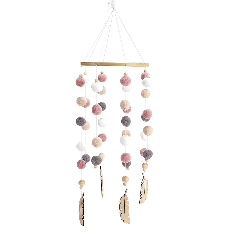 Bricolage-en-Bois-avec-des-Boules-de-Laine-Carillons-a-Vent-Enfants-Chambre-U2M5 miniature 3
