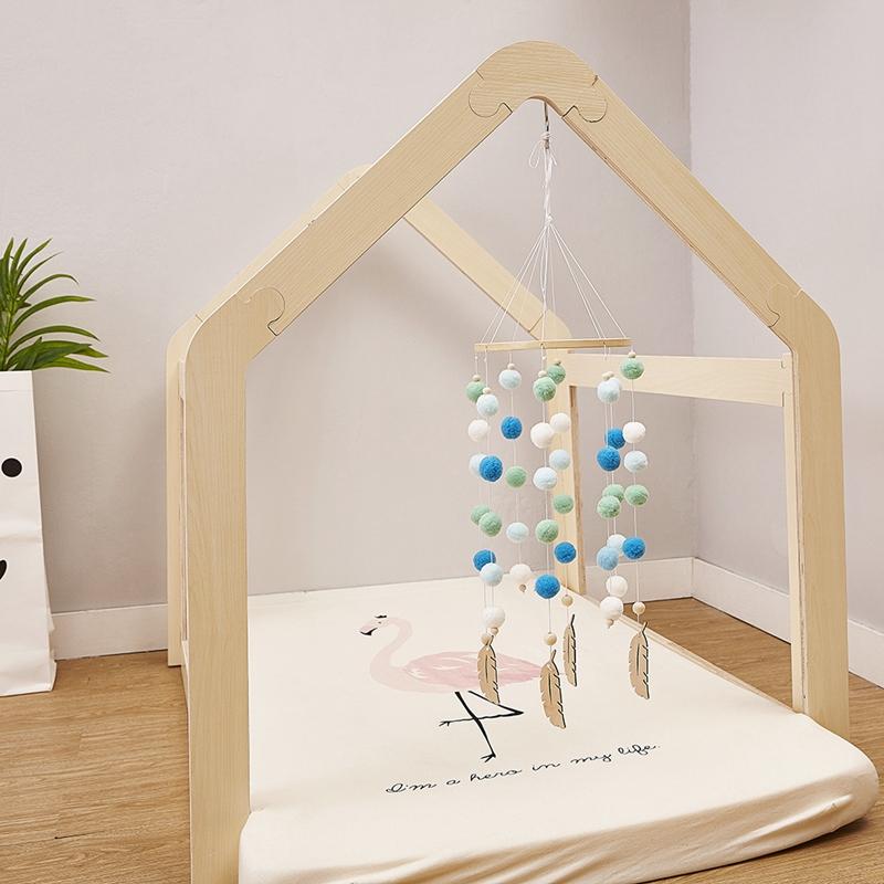 Bricolage-en-Bois-avec-des-Boules-de-Laine-Carillons-a-Vent-Enfants-Chambre-U2M5 miniature 23