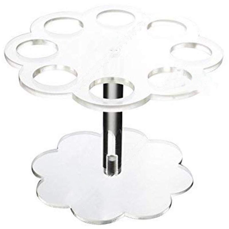 Soporte de cono de helado de acr/ílico desmontable con 8 agujeros