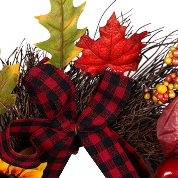 Halloween-und-Weihnachten-Seide-KueNstliche-Sonnenblume-Kranz-Seide-Gelbe-So-Y4F6 Indexbild 8