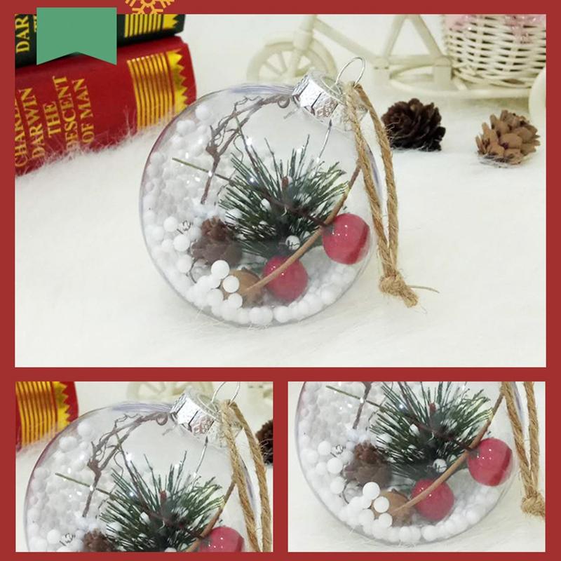 4Pcs-Decoraciones-para-aRboles-de-Navidad-Bola-Transparente-Abierto-PlaStic-D1U4 miniatura 4