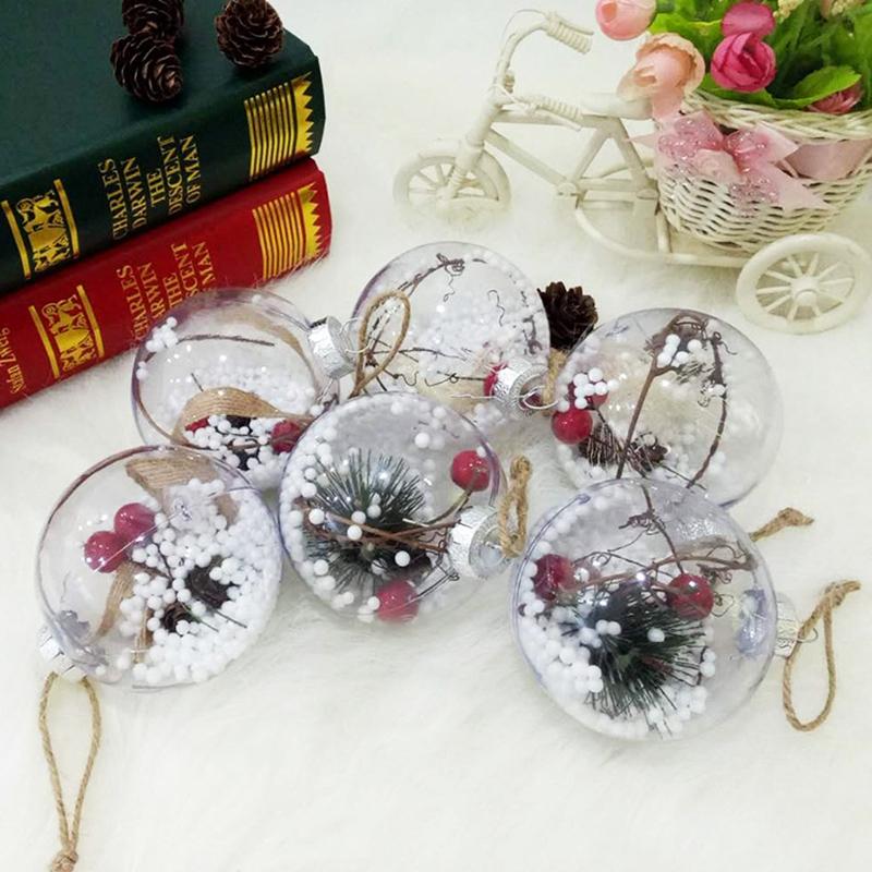 4Pcs-Decoraciones-para-aRboles-de-Navidad-Bola-Transparente-Abierto-PlaStic-D1U4 miniatura 5