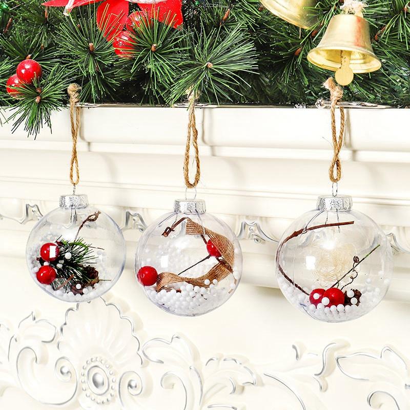 4Pcs-Decoraciones-para-aRboles-de-Navidad-Bola-Transparente-Abierto-PlaStic-D1U4 miniatura 7