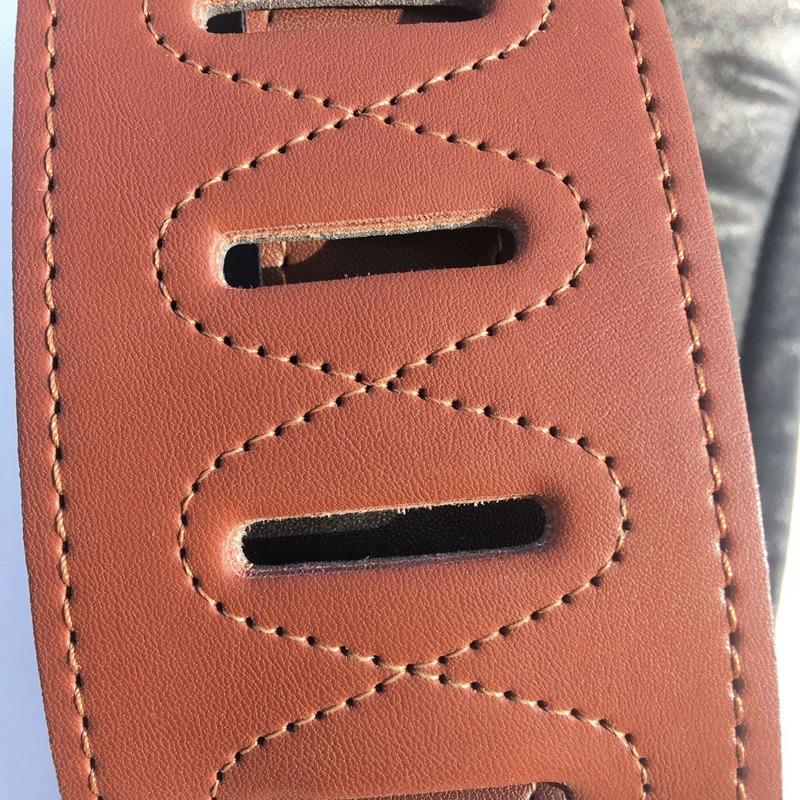 thumbnail 3 - Leather Real Cowhide Guitar Strap for Electric Bass Guitar Adjustable Padd Z7P0