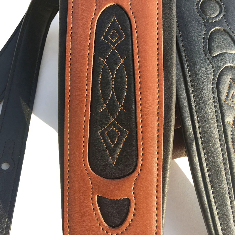 thumbnail 5 - Leather Real Cowhide Guitar Strap for Electric Bass Guitar Adjustable Padd Z7P0