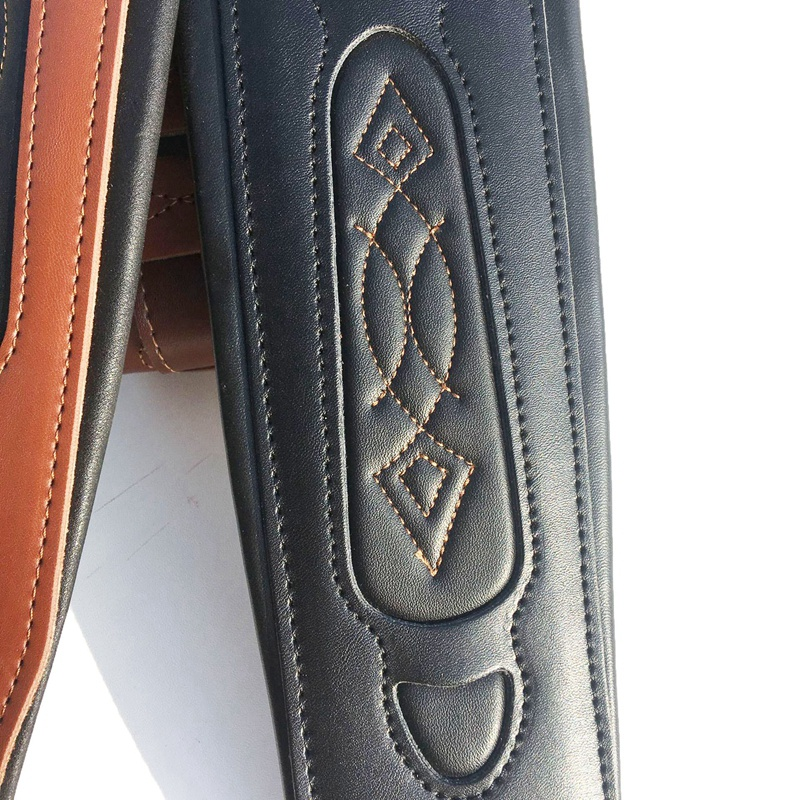 thumbnail 6 - Leather Real Cowhide Guitar Strap for Electric Bass Guitar Adjustable Padd Z7P0