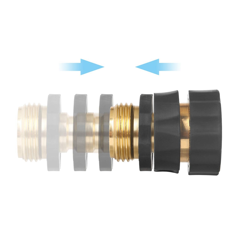 1X-3-4-Inch-Garden-Hose-Fitting-Quick-Connector-Male-and-Female-Value-Pack-V7M4 thumbnail 7