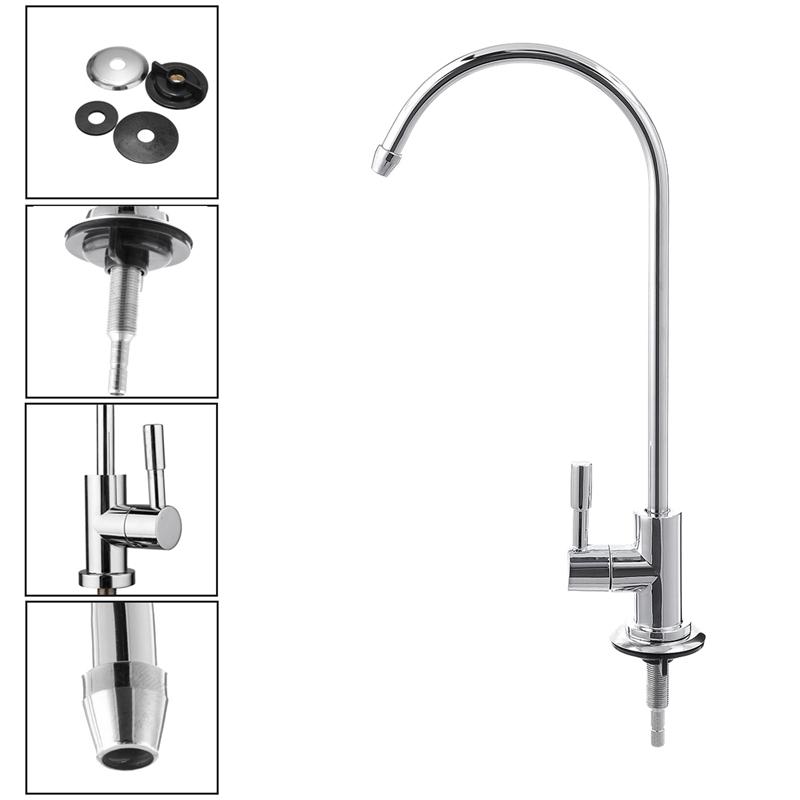 1//4 Zoll Umkehrosmose-System Küche Trinkwasser Filter Wasserhahn Waschbecken Neu