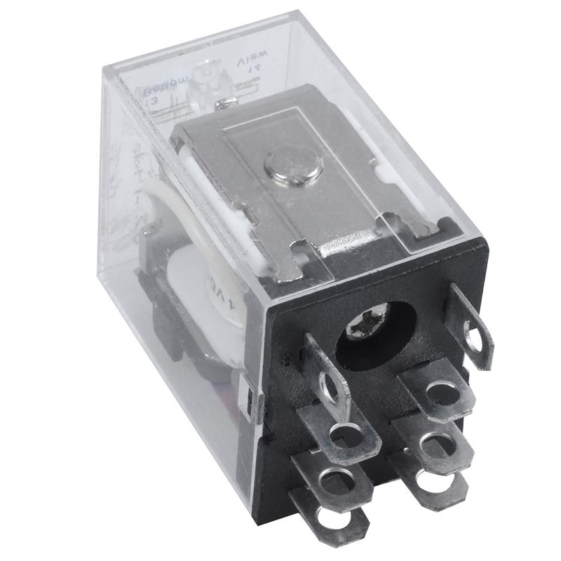 220//240V AC Coil DPDT Power Relay MY2NJ 8 Pin w Socket Base T9M8