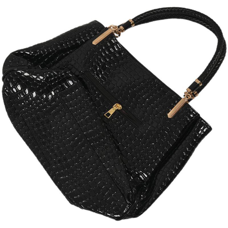 thumbnail 4 - Fashion-Women-Crocodile-Pattern-Leather-Shoulder-Bag-Female-Tote-Handbag-Y7J2
