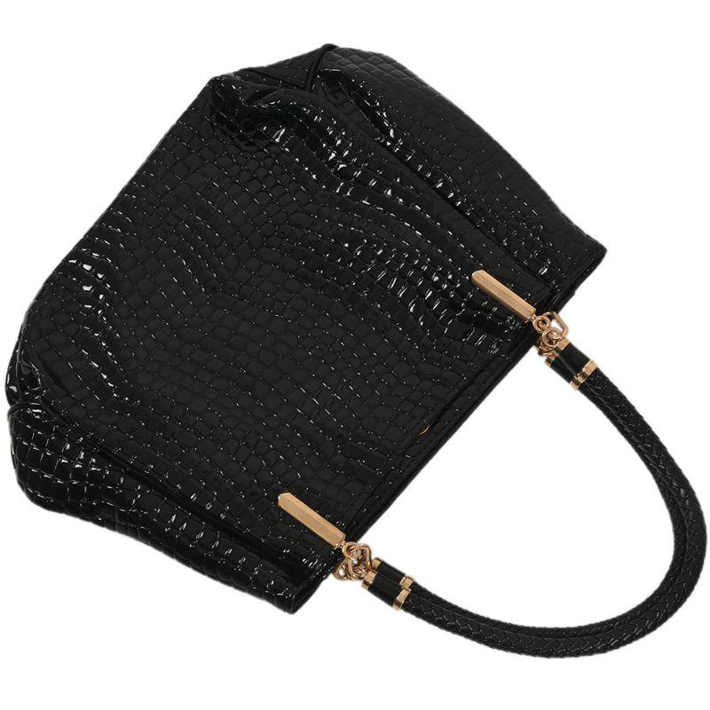 thumbnail 6 - Fashion-Women-Crocodile-Pattern-Leather-Shoulder-Bag-Female-Tote-Handbag-Y7J2