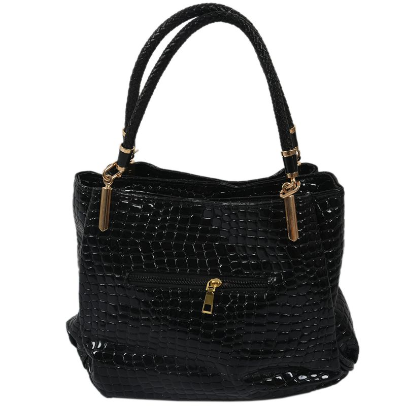 thumbnail 8 - Fashion-Women-Crocodile-Pattern-Leather-Shoulder-Bag-Female-Tote-Handbag-Y7J2
