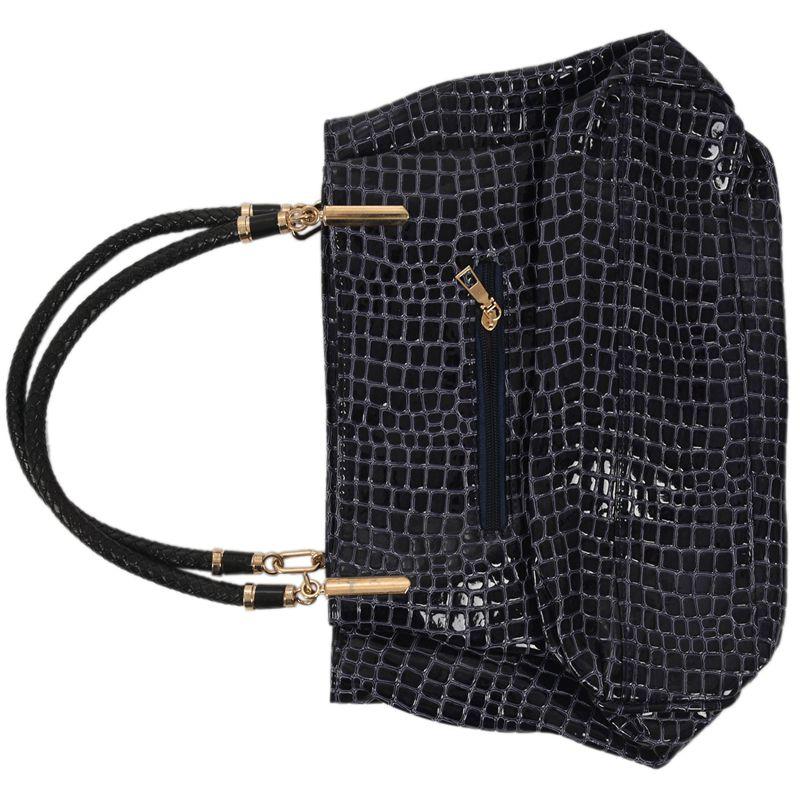 thumbnail 13 - Fashion-Women-Crocodile-Pattern-Leather-Shoulder-Bag-Female-Tote-Handbag-Y7J2