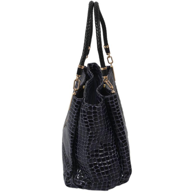 thumbnail 15 - Fashion-Women-Crocodile-Pattern-Leather-Shoulder-Bag-Female-Tote-Handbag-Y7J2