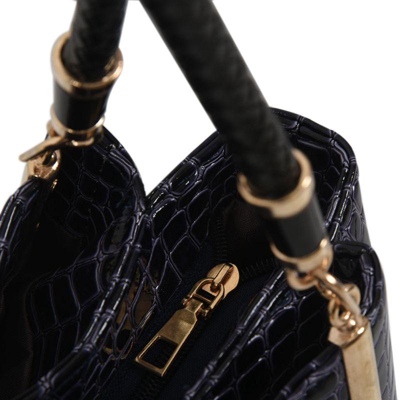 thumbnail 16 - Fashion-Women-Crocodile-Pattern-Leather-Shoulder-Bag-Female-Tote-Handbag-Y7J2