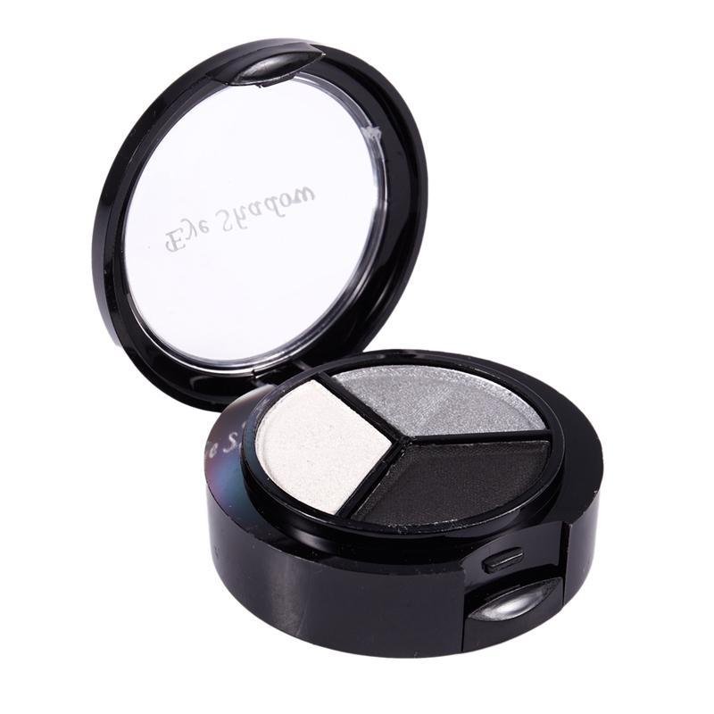 miniatuur 7 - Professional Smoky Cosmetic Set 3 Colors Natural Matte Eyeshadow Makeup Too J5E7