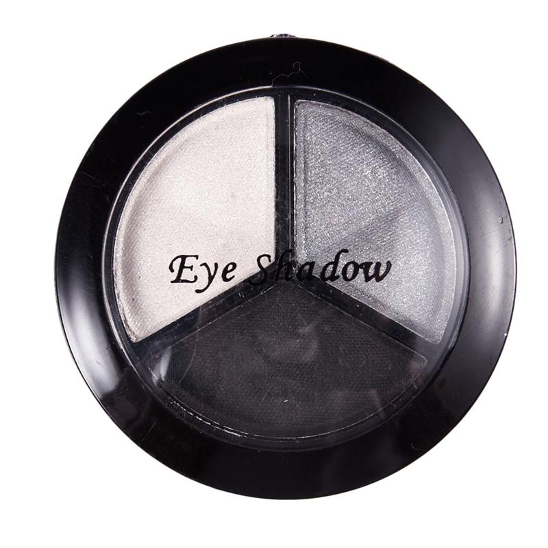 miniatuur 9 - Professional Smoky Cosmetic Set 3 Colors Natural Matte Eyeshadow Makeup Too J5E7
