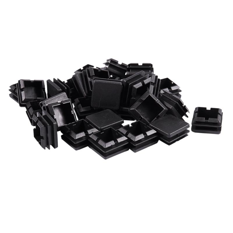 Square-Table-Chair-Leg-Feet-Tube-Pipe-Insert-Cap-30pcs-Black-T1F6 thumbnail 10