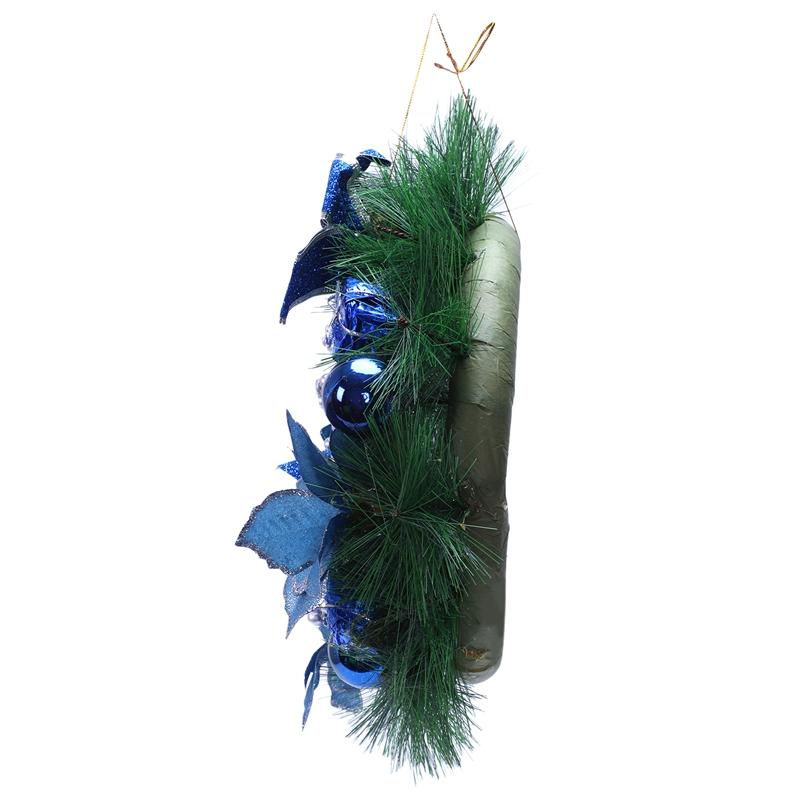blau 30cm F6H3 Weihnachtskranz Tannennadeln Weihnachtsdekoration Zuhause Party