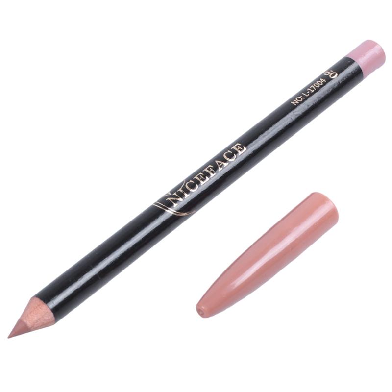 1X(NICEFACE Lip Liner Pencil Waterproof Nude Matte Lip