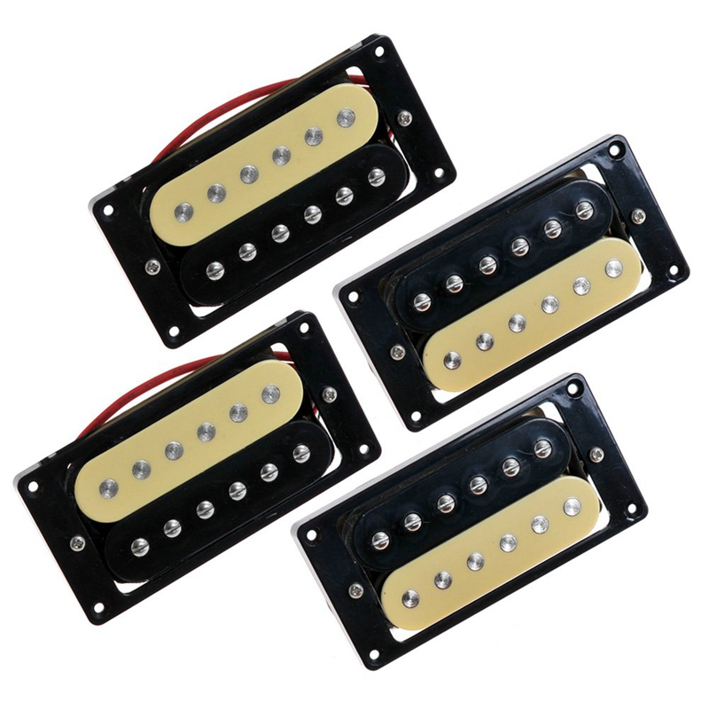 4-Electric-Guitar-Pickups-50-52-Zebra-Faced-Humbucker-Double-Coil-Pickup-N4D8