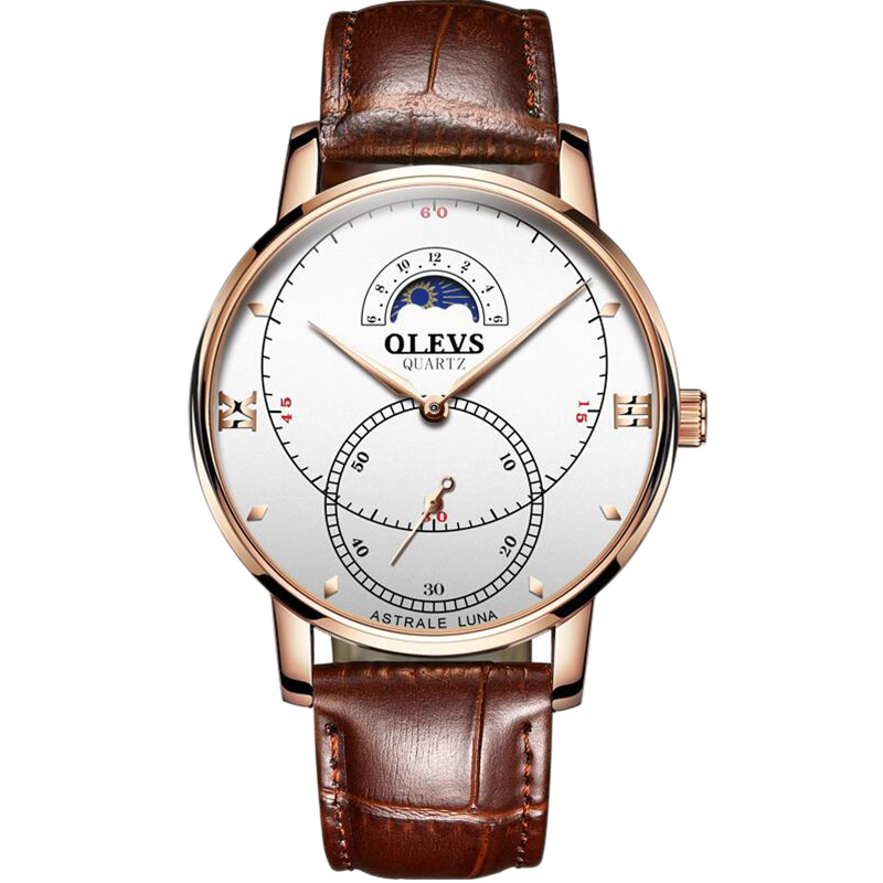 OLEVS-Simple-Fashion-Men-039-s-Watch-Men-039-s-Watch-Quartz-Watch-Waterproof-Men-G1U4 thumbnail 3