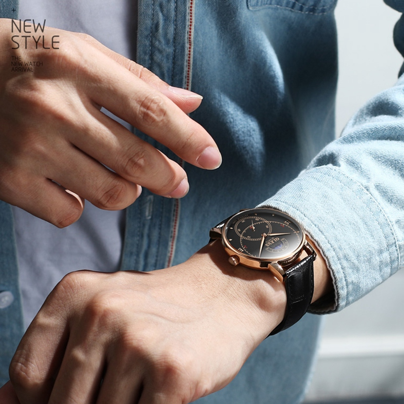 OLEVS-Simple-Fashion-Men-039-s-Watch-Men-039-s-Watch-Quartz-Watch-Waterproof-Men-G1U4 thumbnail 11