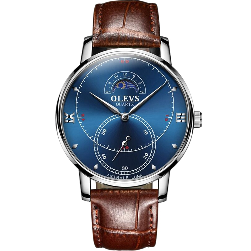 OLEVS-Simple-Fashion-Men-039-s-Watch-Men-039-s-Watch-Quartz-Watch-Waterproof-Men-G1U4 thumbnail 14